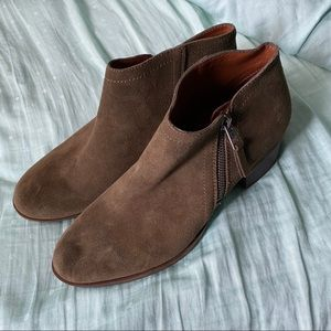 Lucky brand olive booties size 10